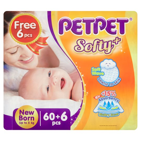 Softy+ Disposable Baby Diaper New Born Up to 5kg