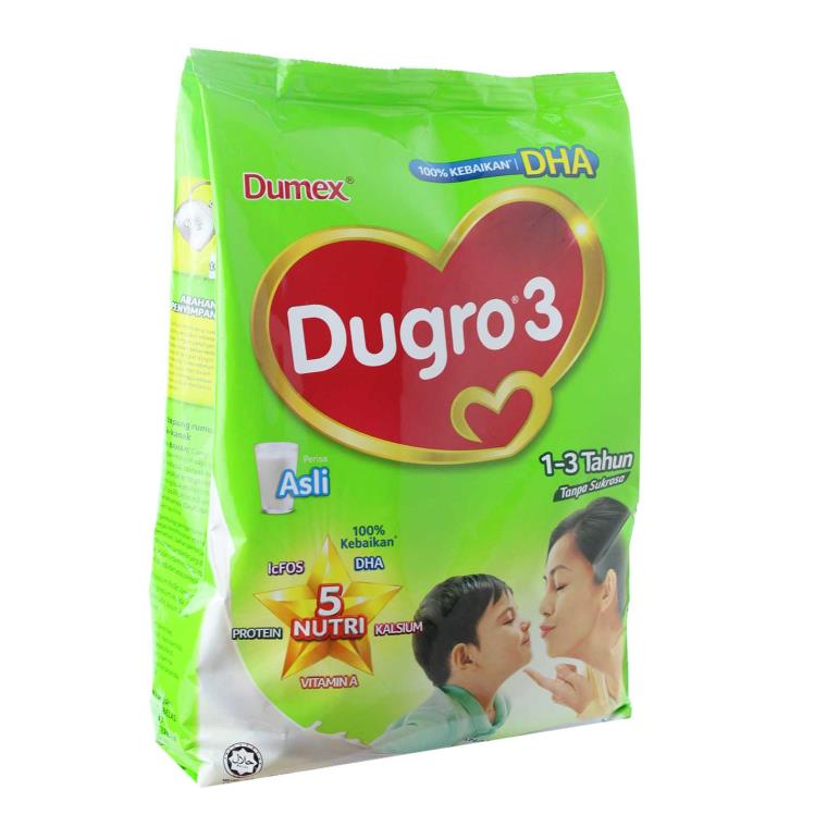 Dugro 3 Children Milk Powder 1-3 Years Old Plain