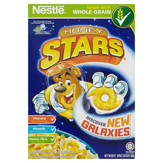 Honey Stars Honey-Coated Wheat And Corn Puff Breakfast Cereal
