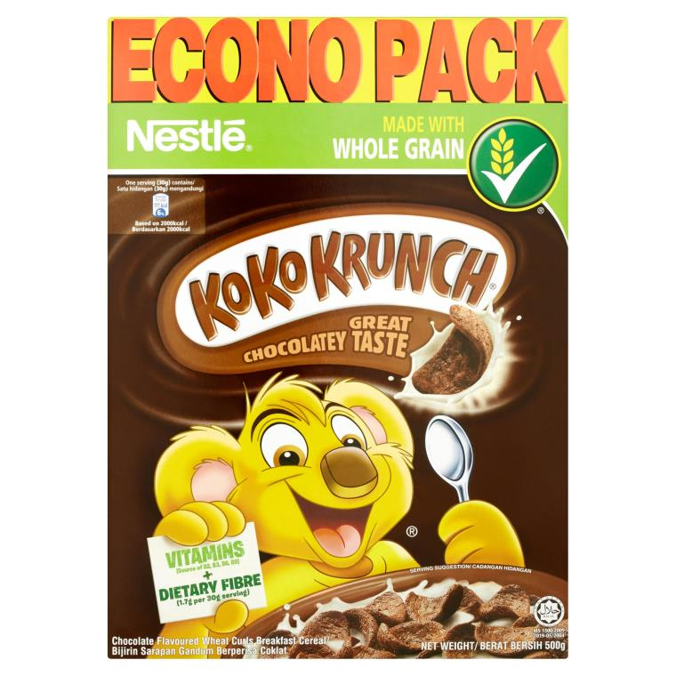 Koko Krunch Chocolate Flavoured Wheat Curls Breakfast Cereal