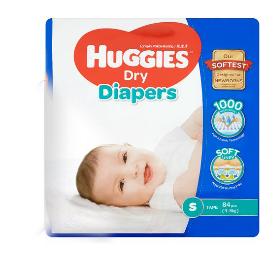 Dry Diapers Tape S 4-8kg