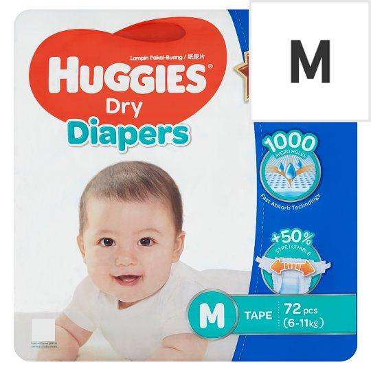 Dry Diapers Tape M 6-11kg