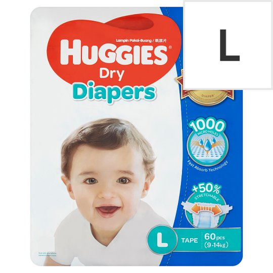 Dry Diapers Tape L 9-14kg