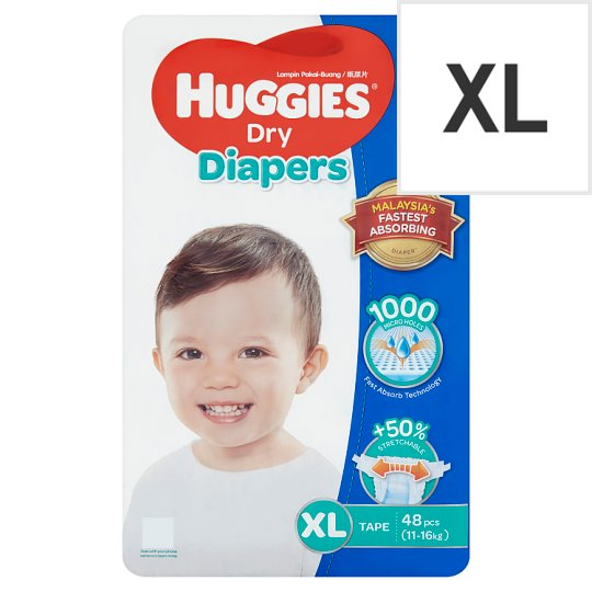 Dry Diapers Tape XL 11-16kg