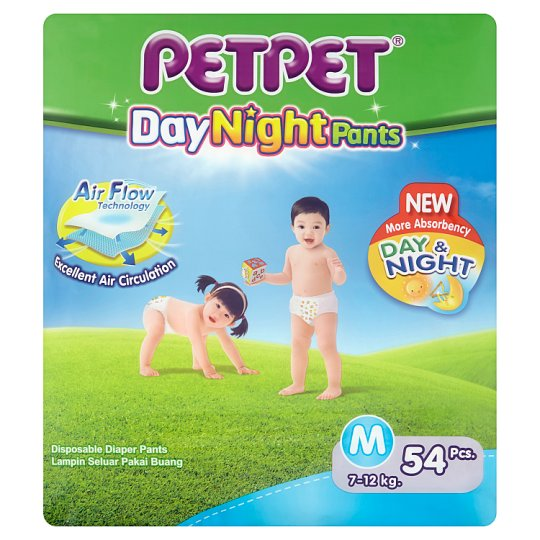 Day Night Disposable Diaper Pants M 7-12kg