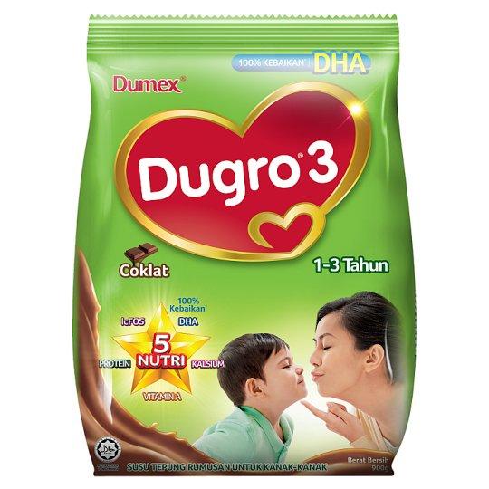Dumex Dugro 3 Chocolate Formulation Milk Powder for Children 1-3 Years