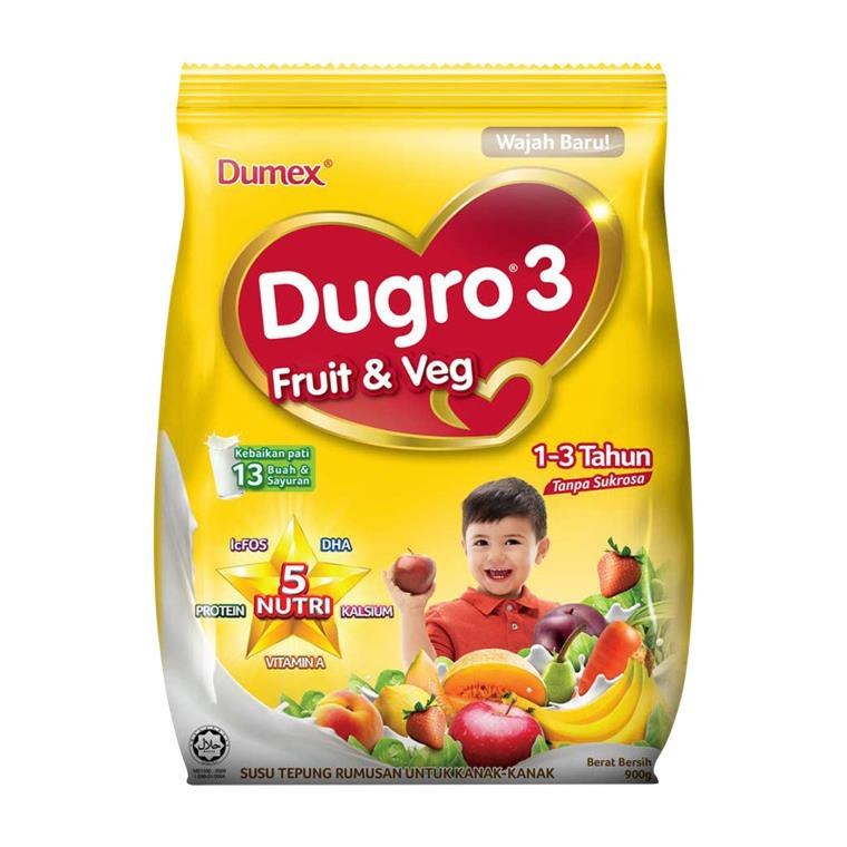 Dumex Dugro 3 Fruit & Vegetable / Multi Grain Milk Powder