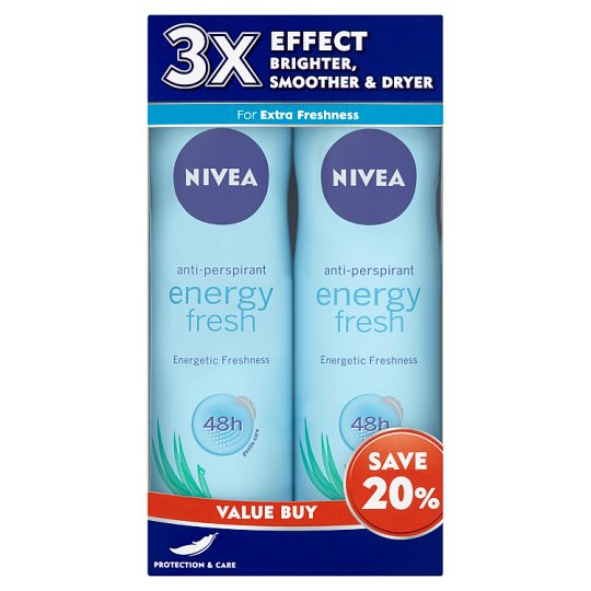 48h Anti-Perspirant Energy Fresh Deodorant Spray (2 x 150ml)