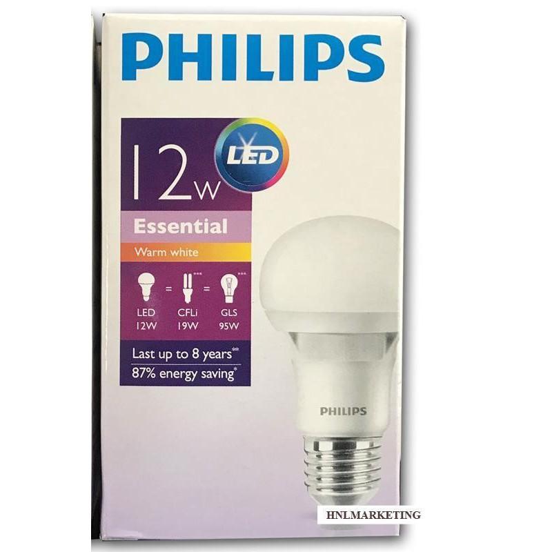 Essential LED 12W E27 220-240V Warm White Bulb