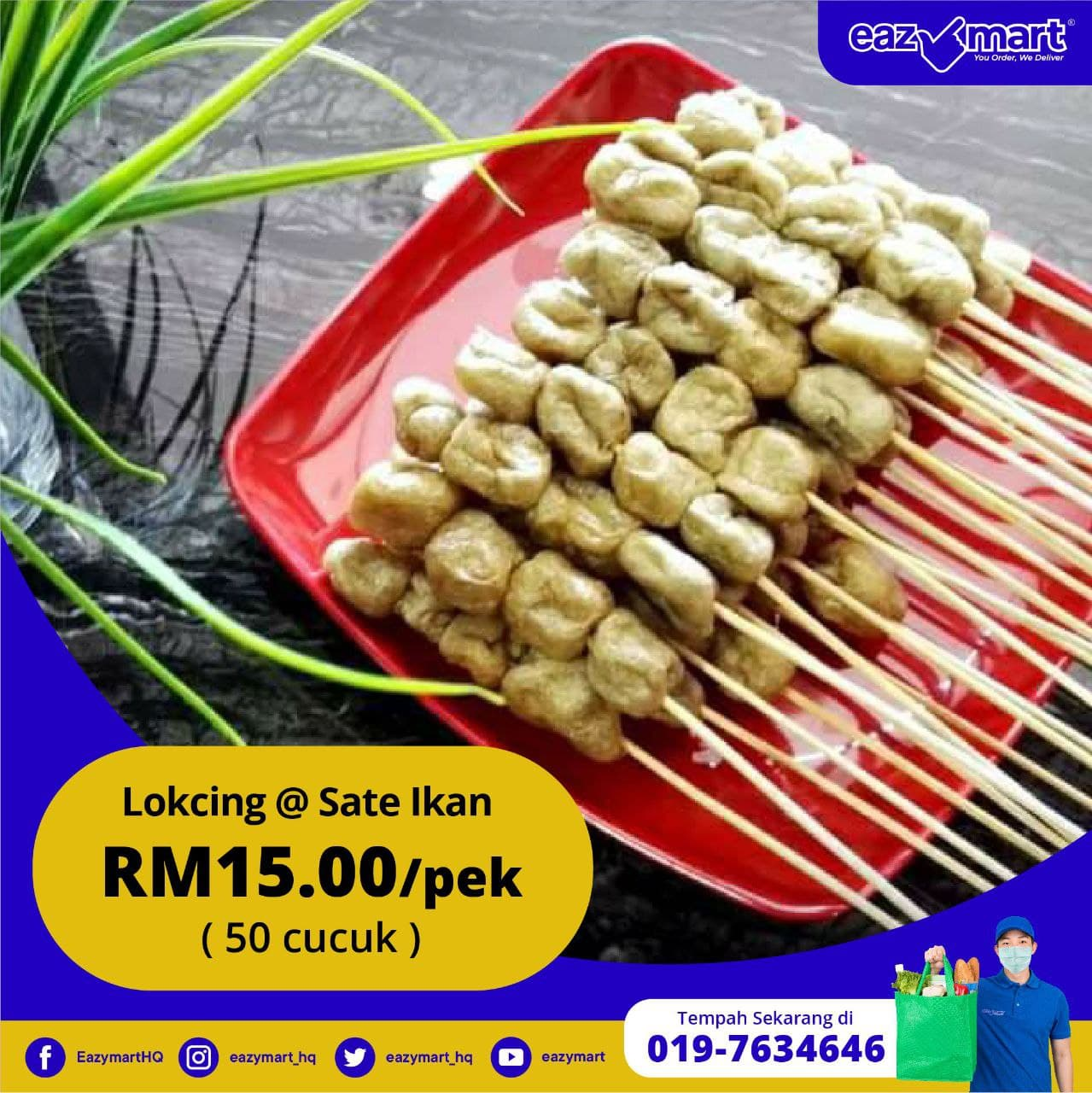 Lokcing Satey Sate Ikan (Include Delivery)