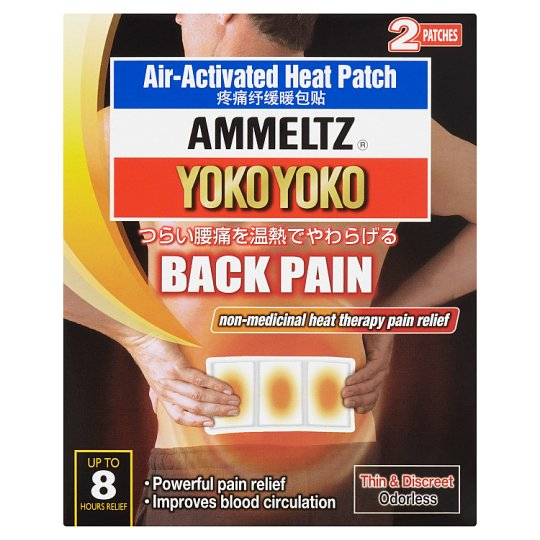 Yoko Yoko Back Pain Air-Activated Heat Patch 2 Patches